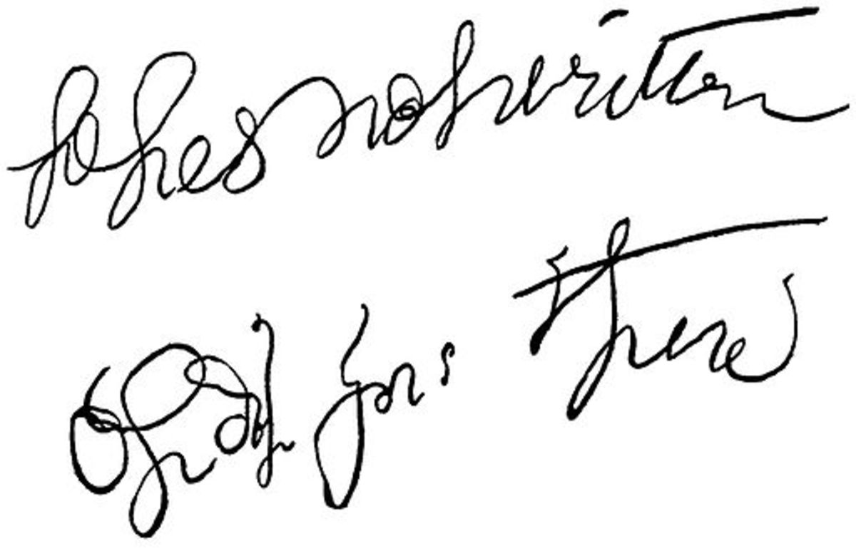 An example of supposed automatic writing, dating from 1896.