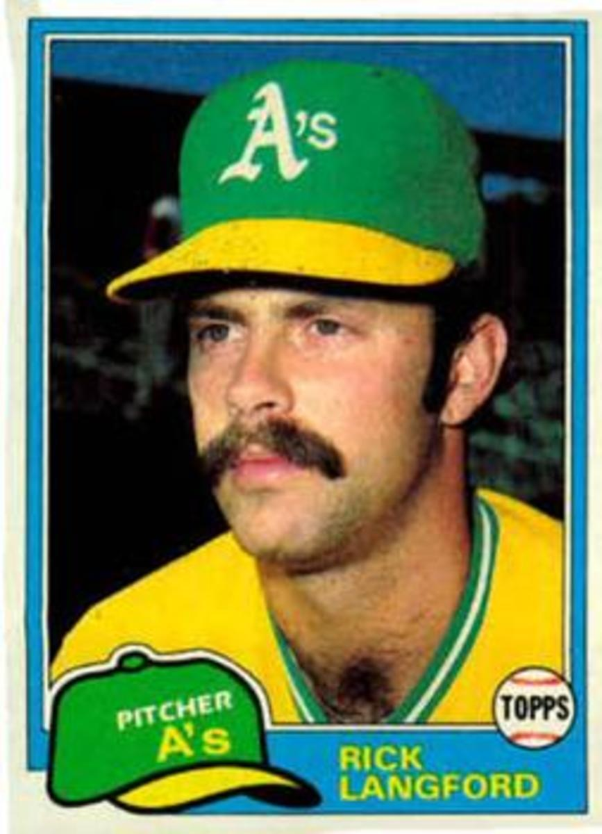 Rick Langford looking fresh and determined after his 28 complete games in 1980.