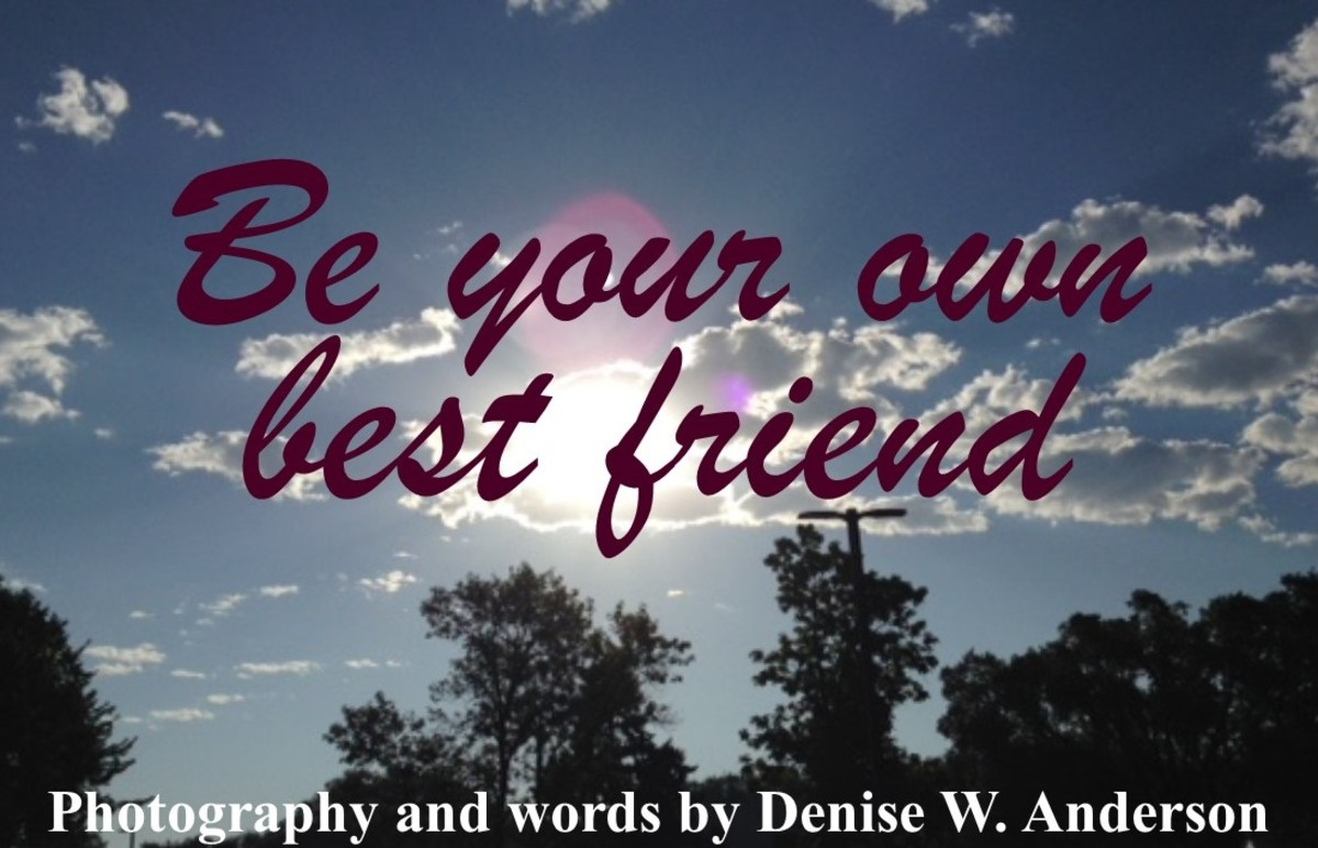 When we are our own best friend, we are a lot nicer to ourselves!