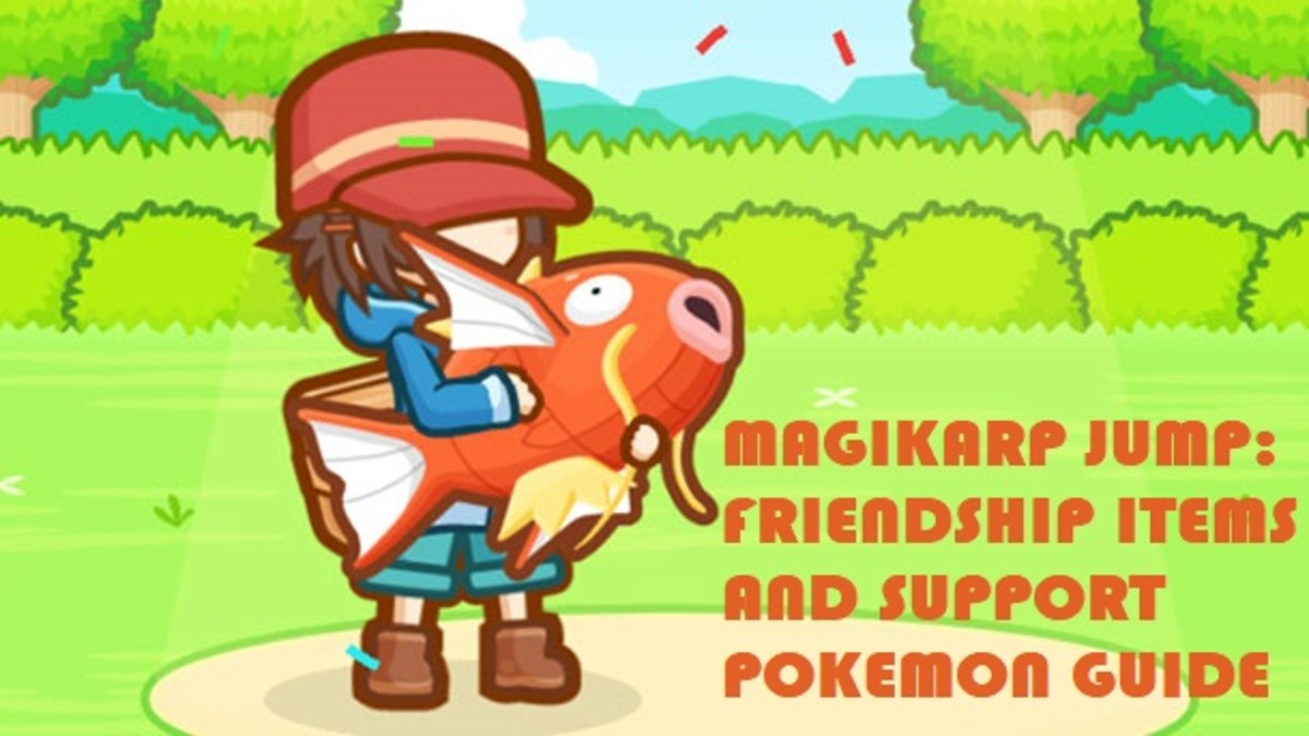 Magikarp Jump Friendship Items and Support Pokemon Guide