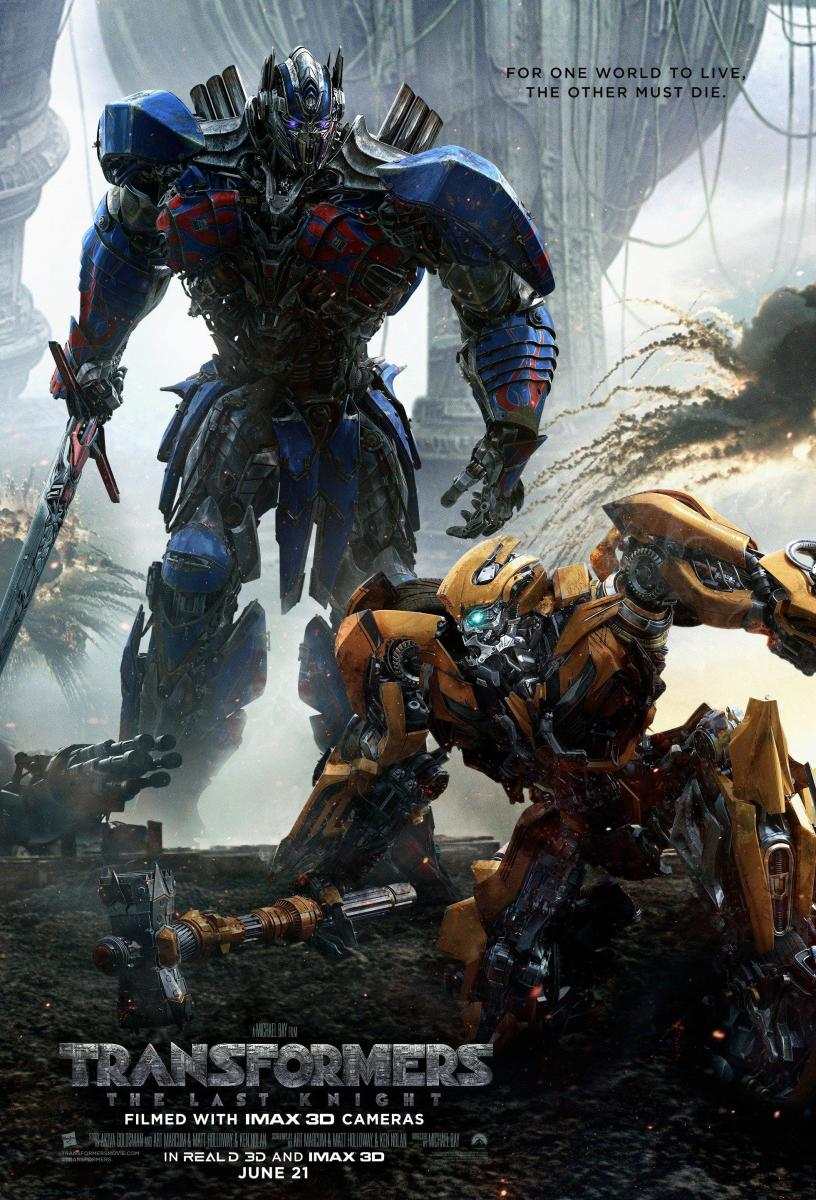"One of many theatrical posters for ""Transformers: The Last Knight."""