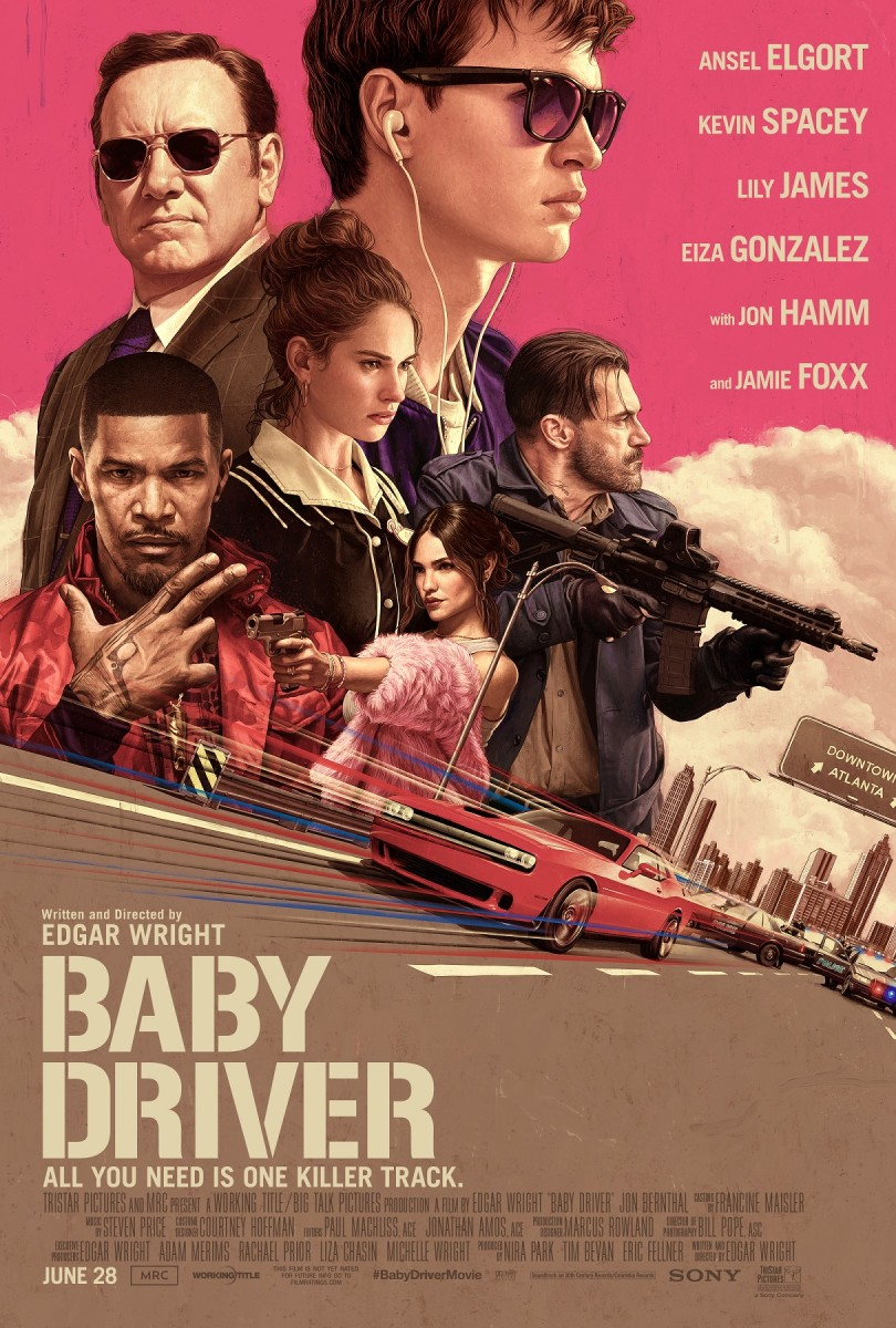 "The official one-sheet theatrical poster for ""Baby Driver."""
