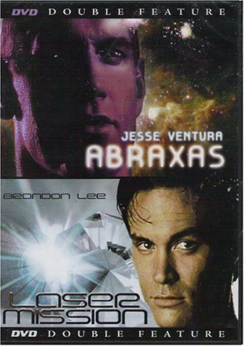 """Dollar Store Double Feature: """"Abraxas, Guardian of the Universe"""" (1990) and """"Laser Mission"""" (1989)"""