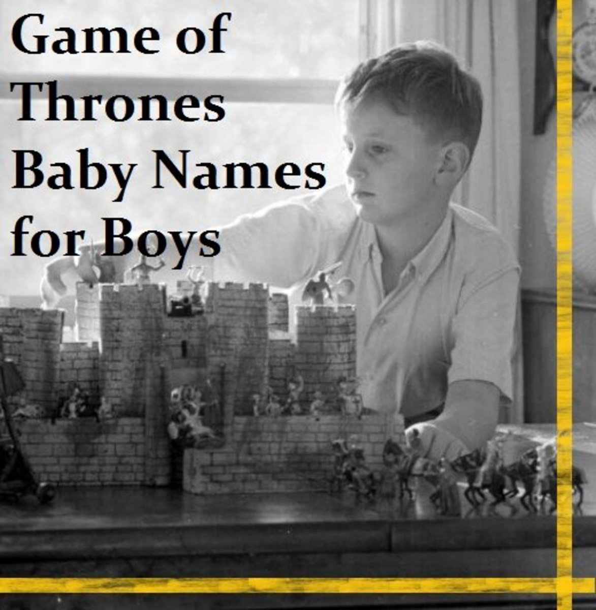"""Game of Thrones"" Baby Names for Boys"
