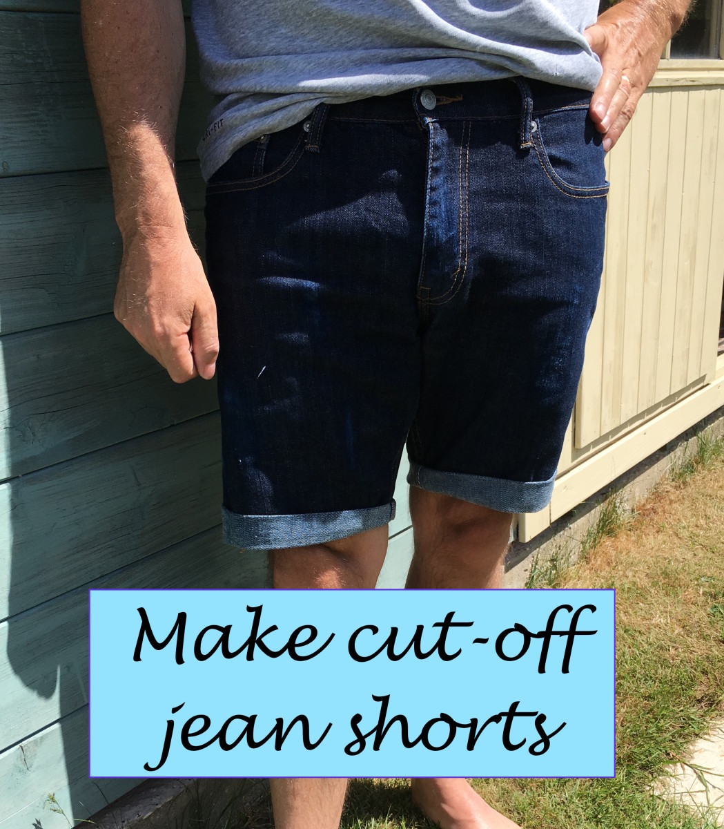 Try your cut-off jeans shorts on. Look in the mirror to make sure both legs of your shorts end are the same length. Trim the legs of the shorts to make them the same length or further shorten, if necessary.