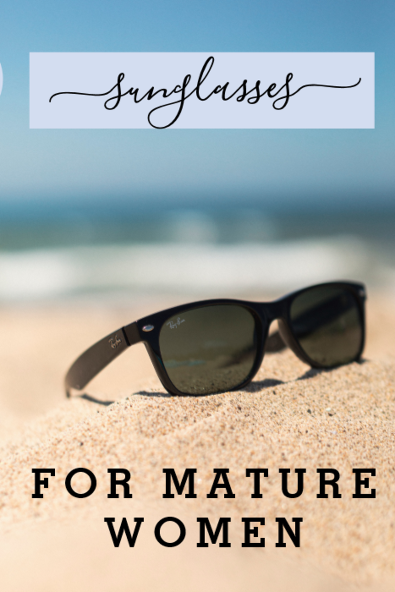 Choosing sunglasses for mature women