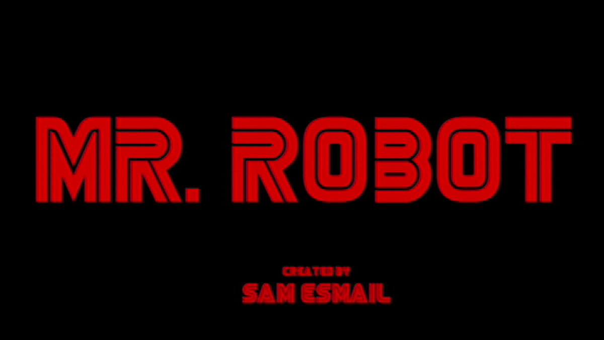 The Mr. Robot pilot episode logo. Image copyright of USA Network.