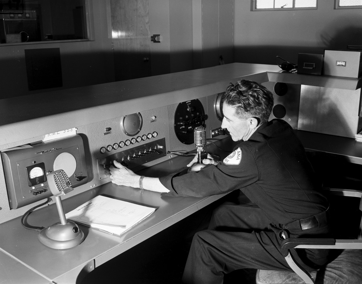 Fire department dispatcher, 1953