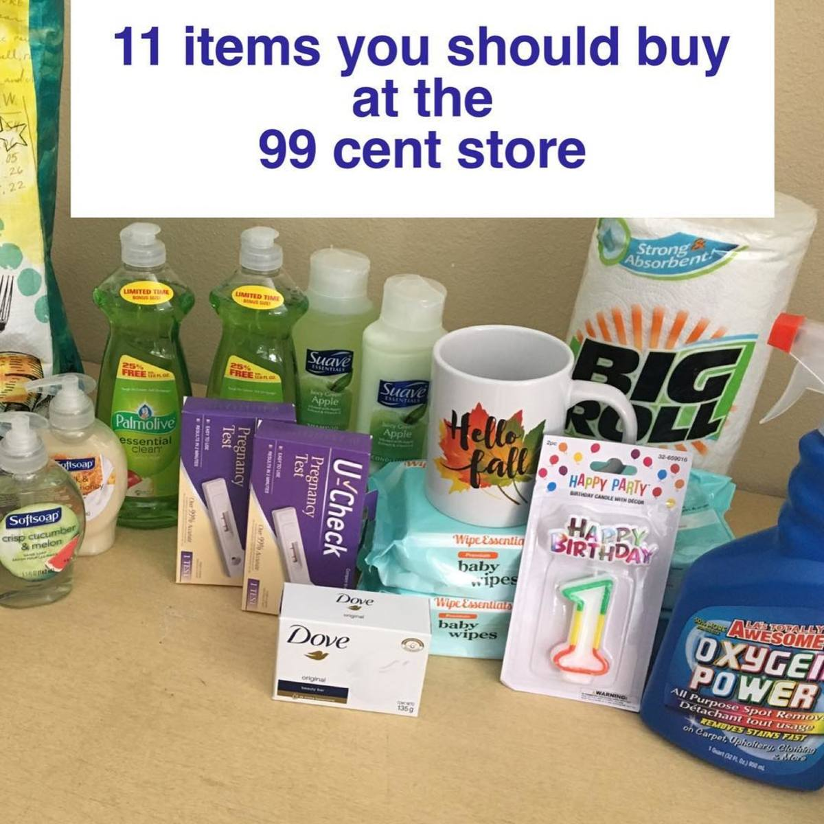 Check out everything I got at the 99 cent store for only $20!