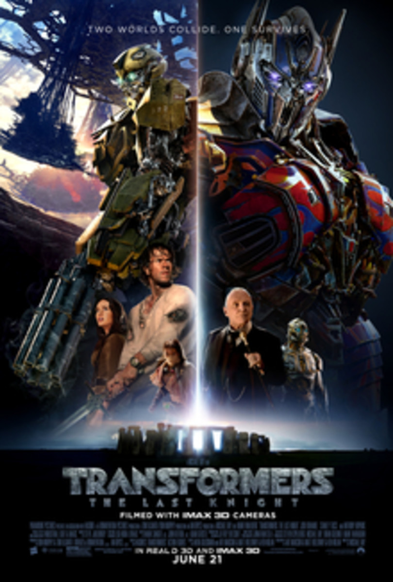 A very clearly 'Star Wars-influenced' poster for 'Transformers: The Last Knight'.