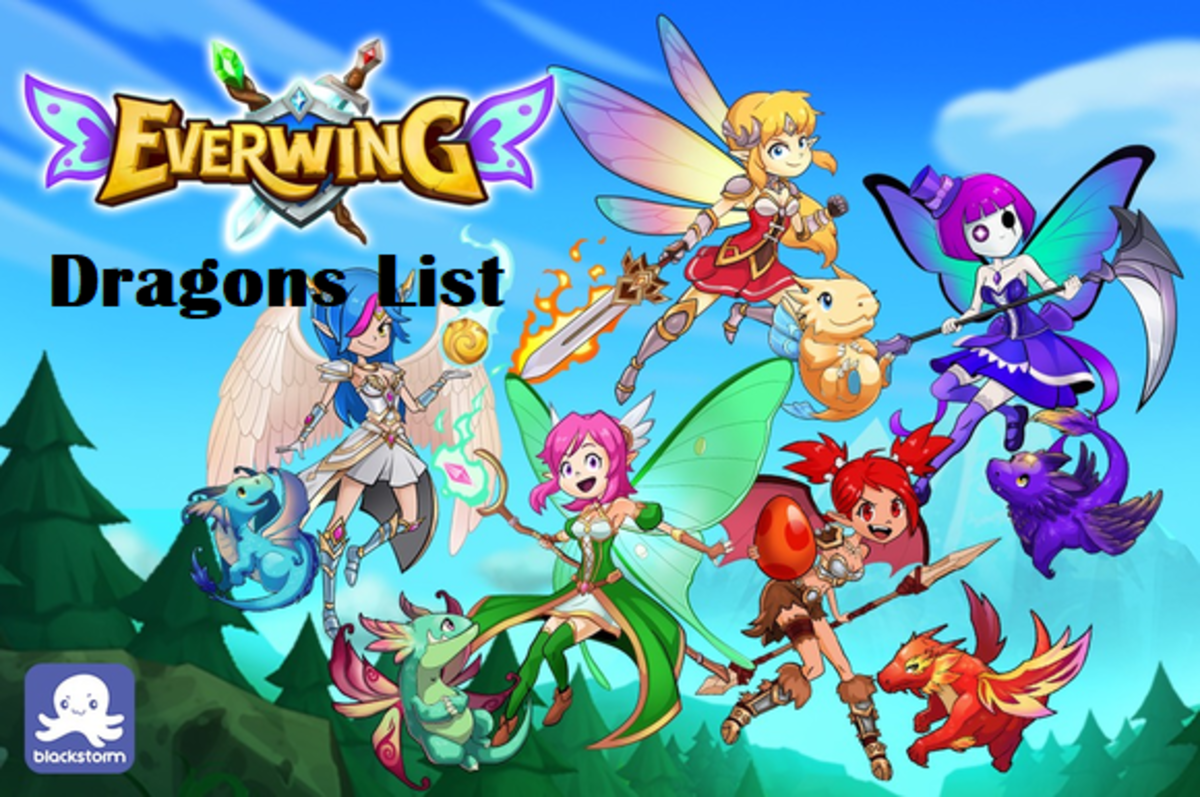 EverWing Dragons List