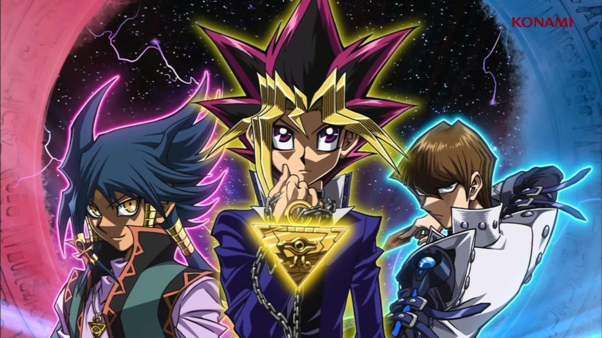 Aigami, Yugi, and Kaiba