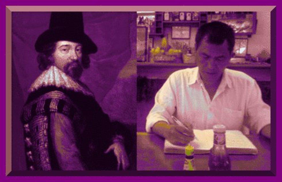Sir Francis Bacon and his disciple.