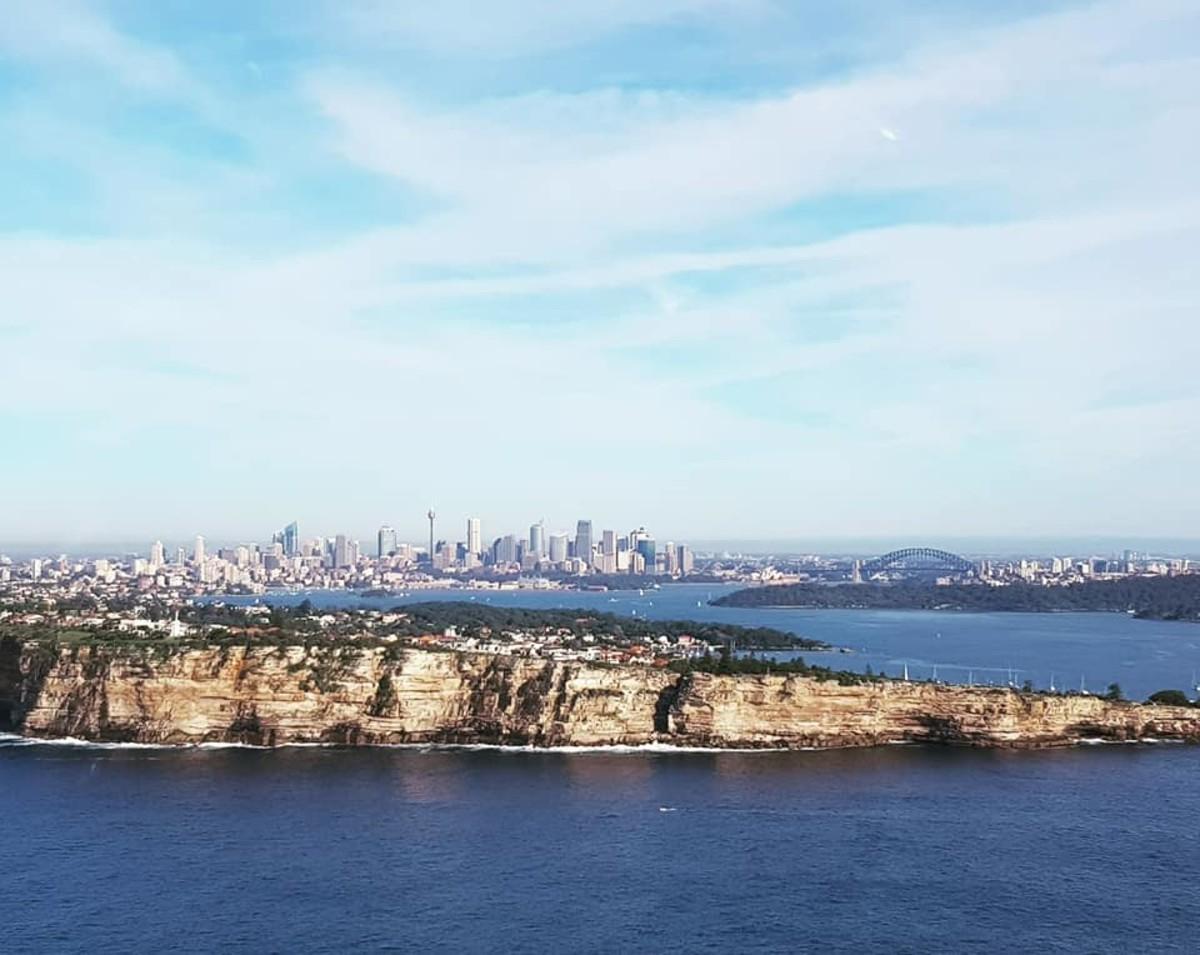 Flying past Sydney's heads near Watsons Bay