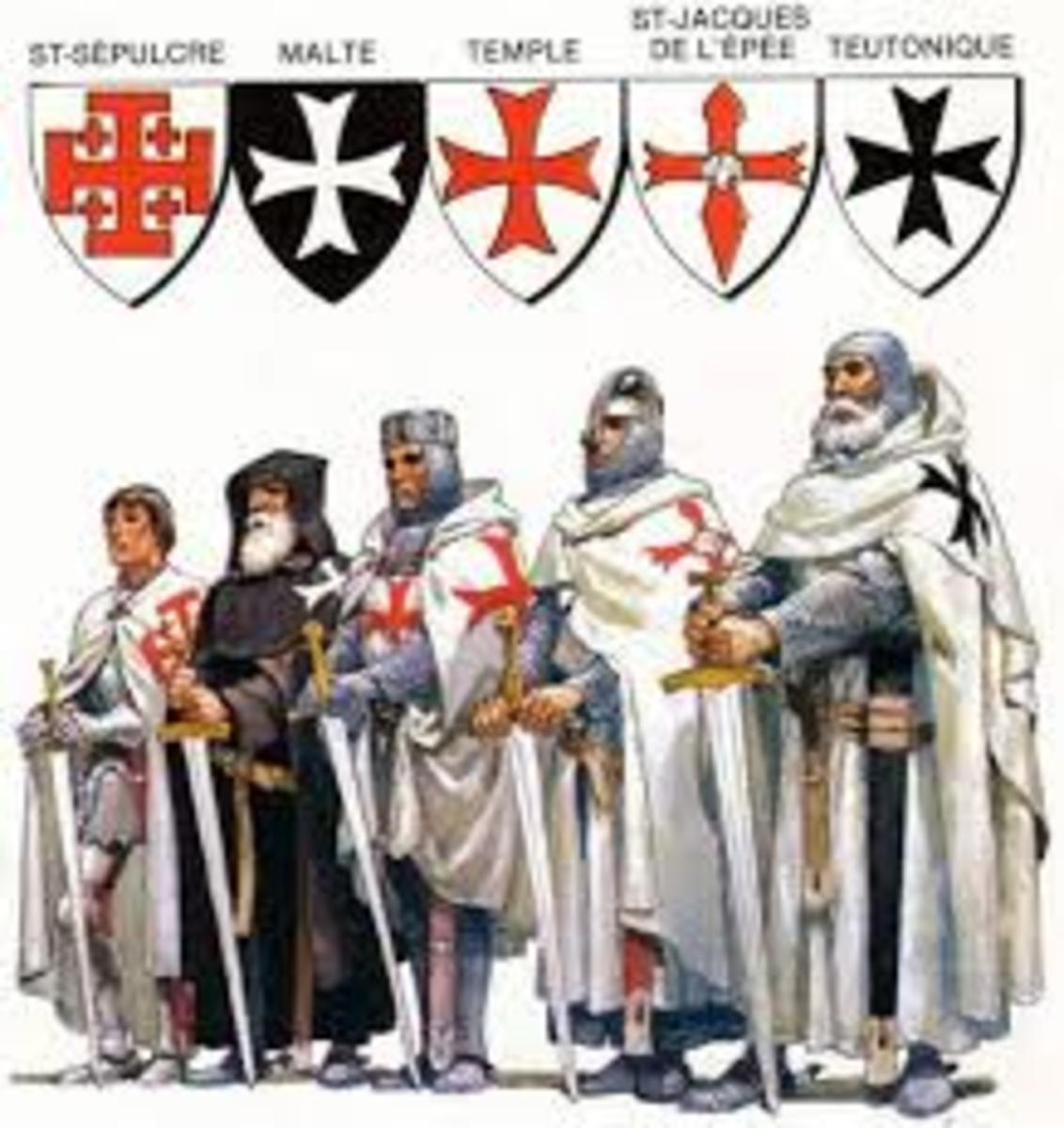 Knights Templar and Knights Hospitaller were the leading monastic knights during the medieval age.