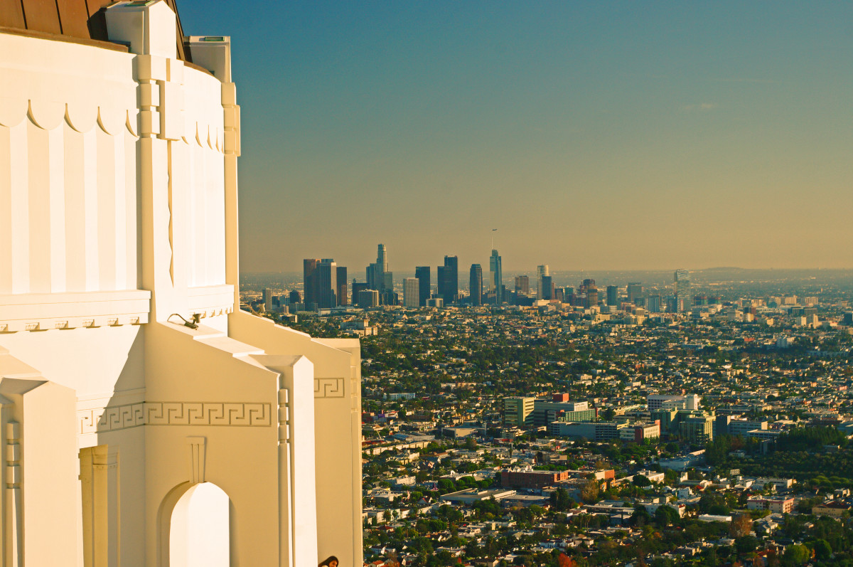 View of downtown Los Angeles from the Griffith Observatory