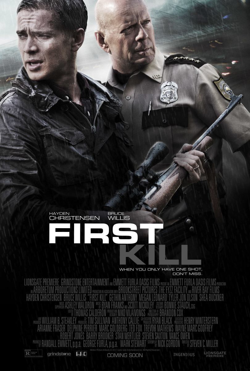 "The official theatrical poster for ""First Kill."""