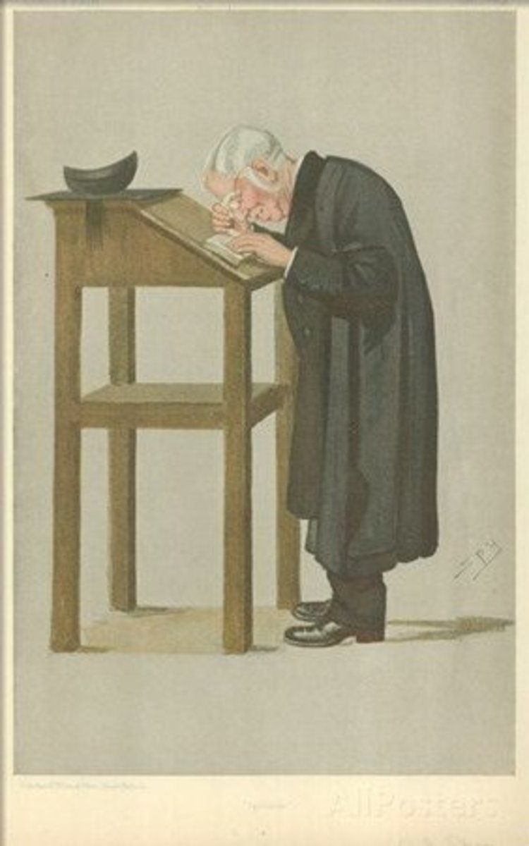 Caricature of Dr. Spooner published in Vanity Fair in 1898.