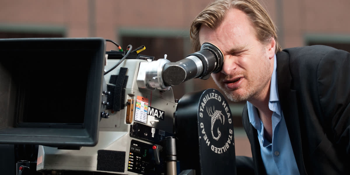 Christopher Nolan on the set of Dunkirk