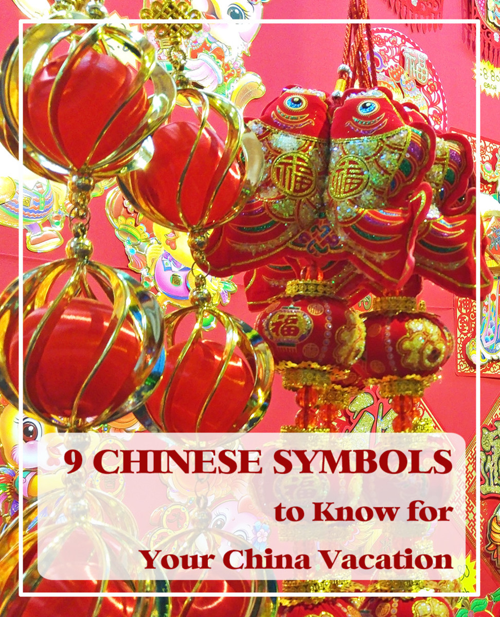 9 Chinese symbols for love, wealth, luck, and happiness that you would most likely encounter during your stay in China.