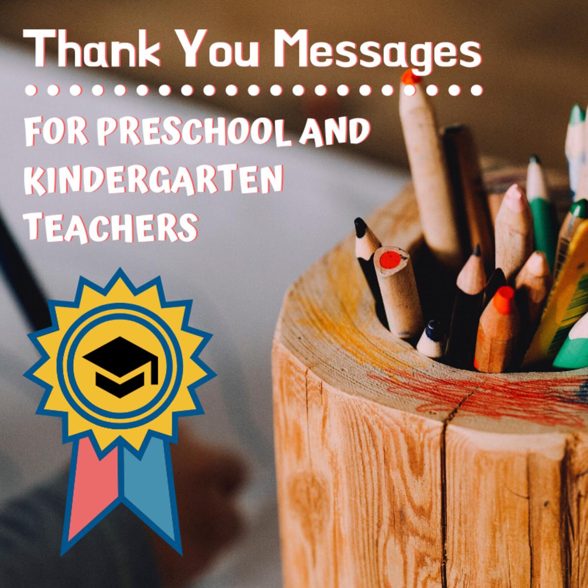 Example Thank You Notes for Preschool or Kindergarten ...