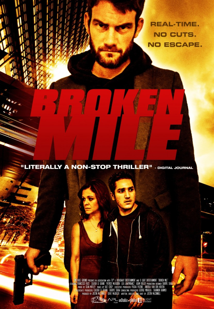 "The official poster for ""Broken Mile."""