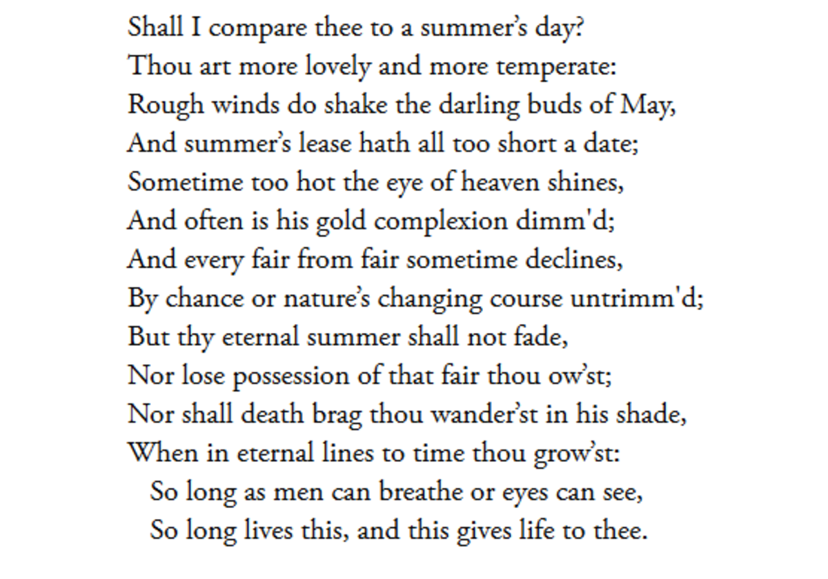 The analysis of sonnet 18