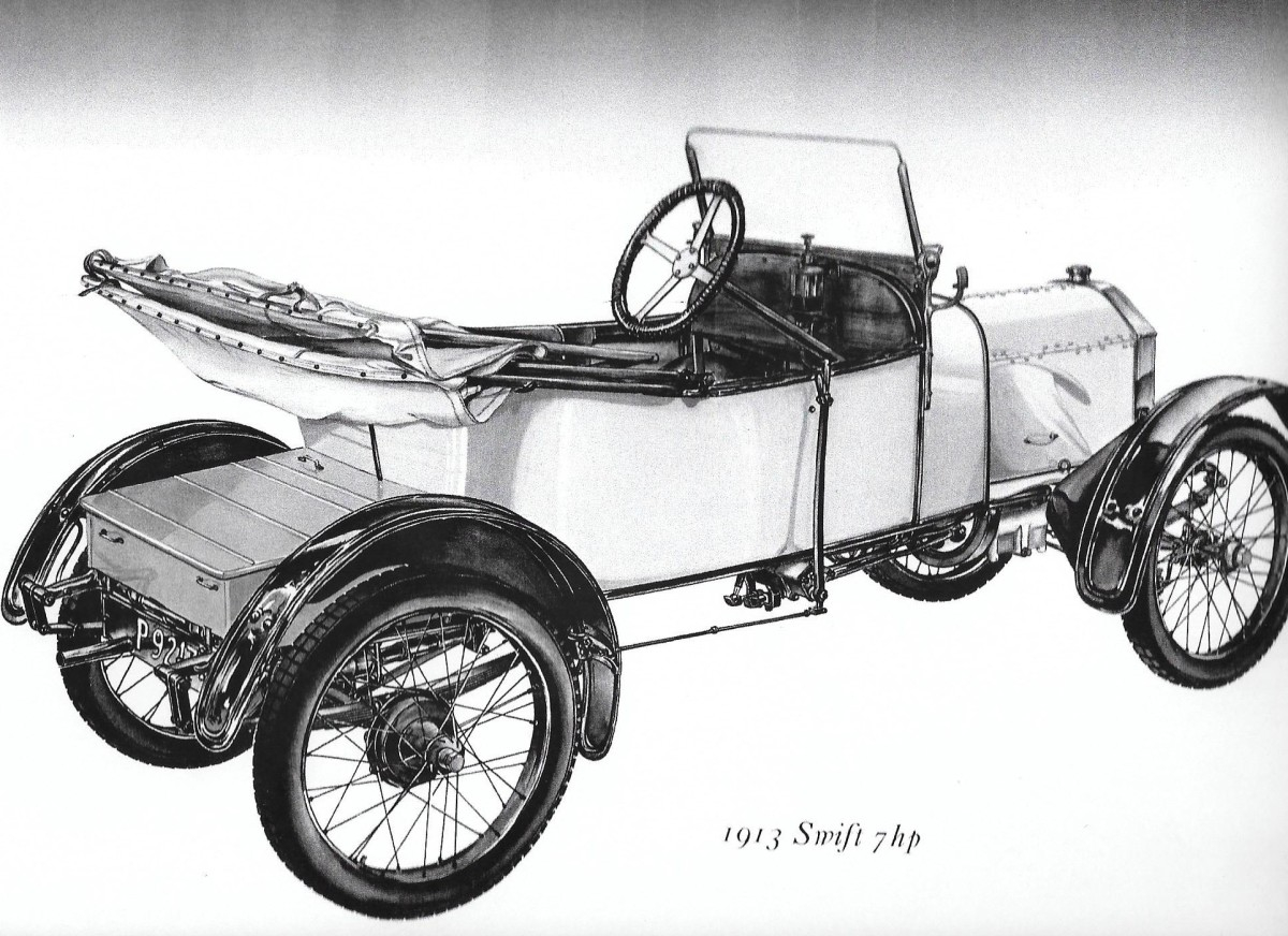 A 1913 Swift with wire wheels