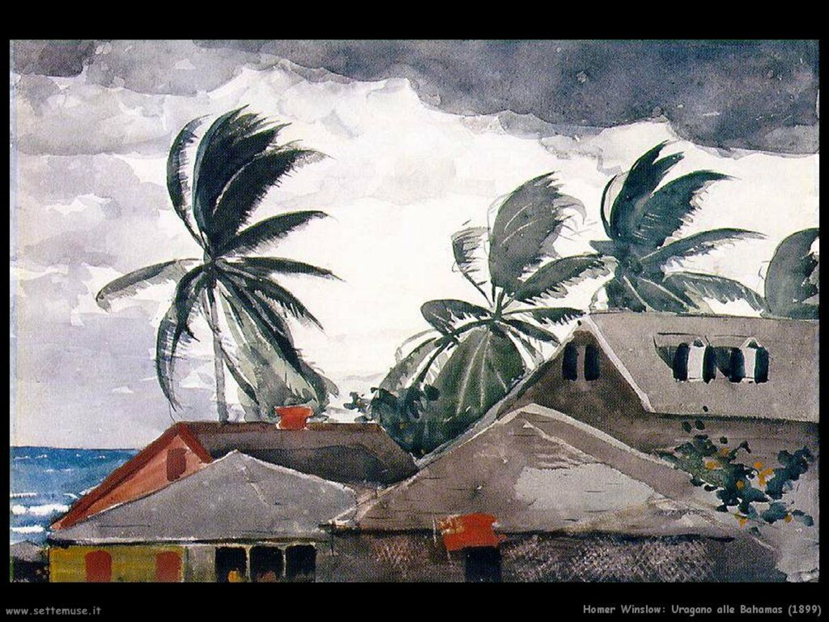 This Winslow Homer painting depicts a hurricane brewing in the Bahamas