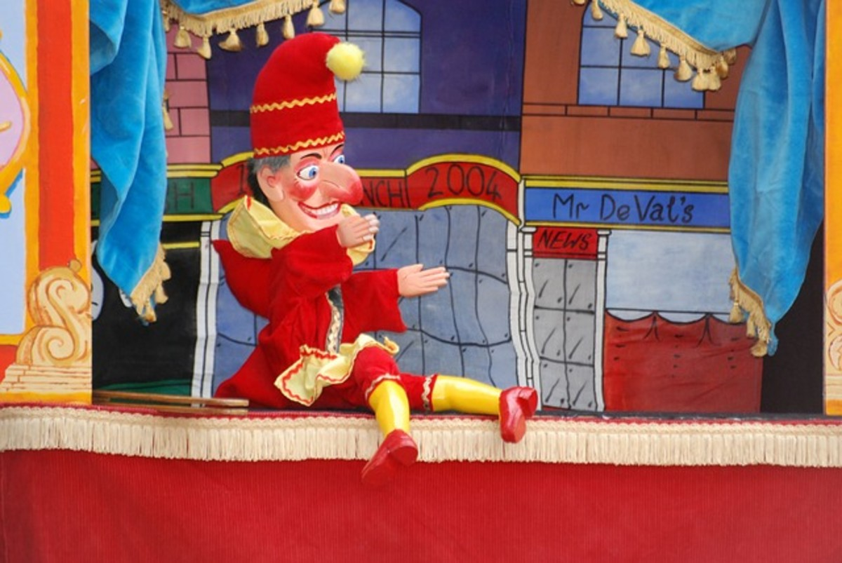 This is a picture of Punchinello from the Punch and Judy Show