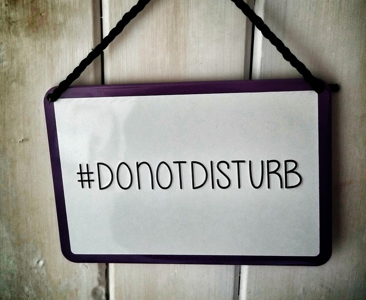 Put this sign on your door if distractions keep making it hard for you to stay motivated.