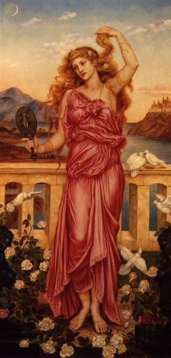 Helen of Troy.  (Painting by Evelyn De Morgan, 1898.)