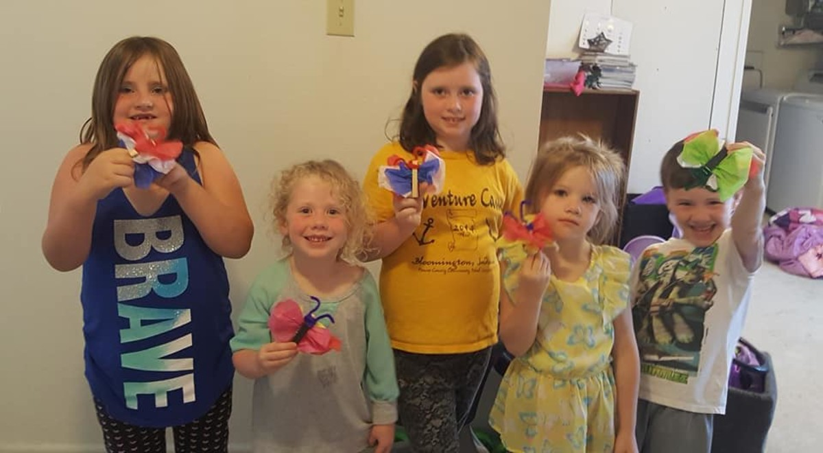 All five of the kiddos.