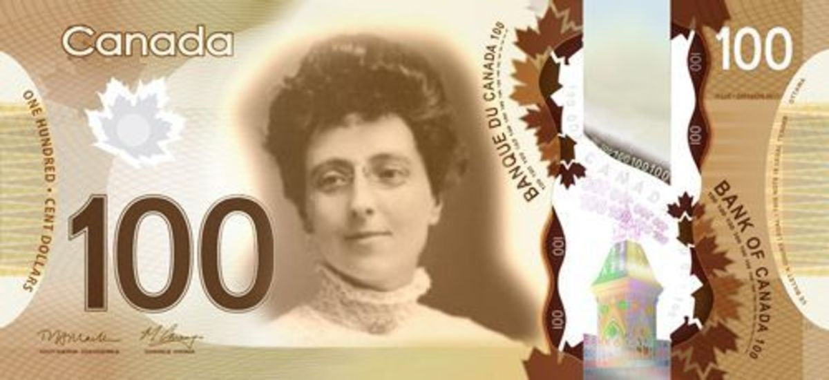 Lucy Maud Montgomery immortalized on Canadian currency.