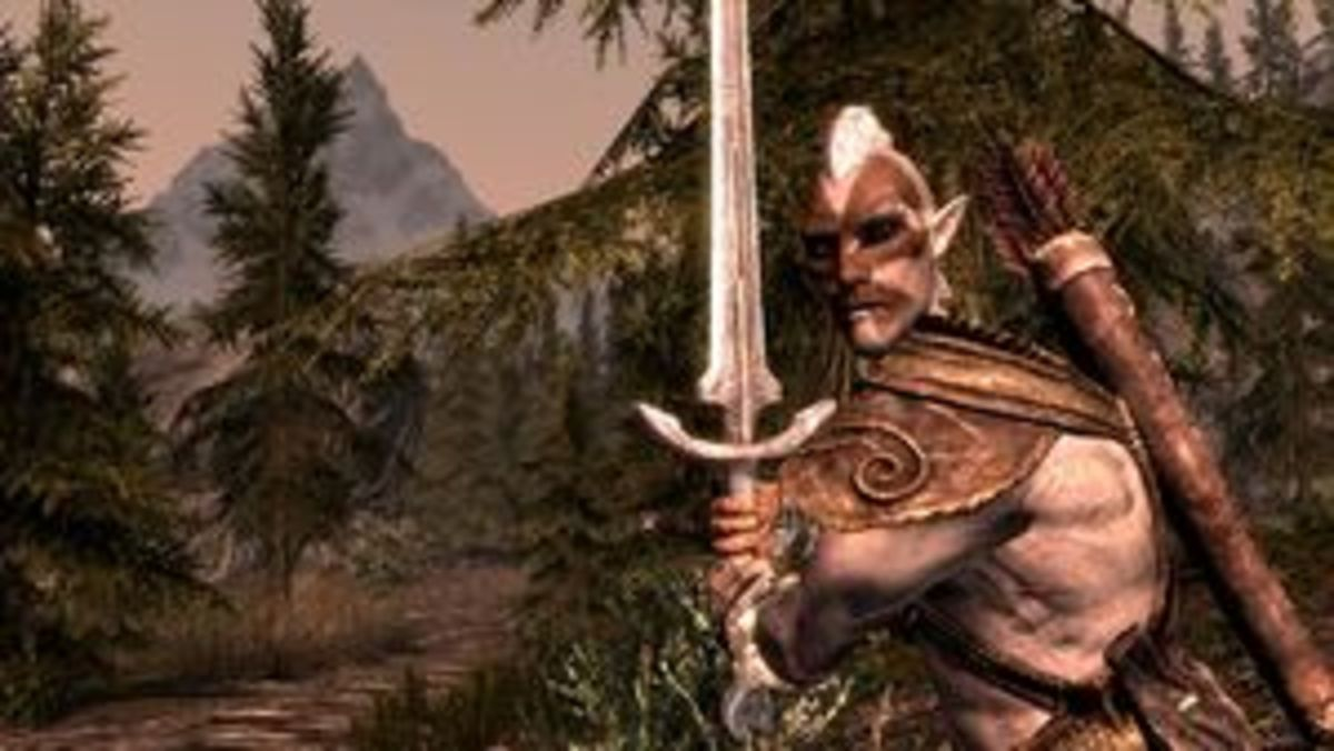 A particularly bulky Wood Elf, wielding a greatsword instead of a traditional bow.