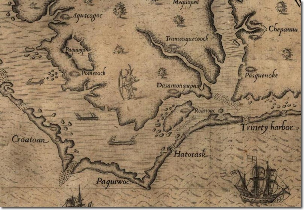 1587 Map of the Colonies