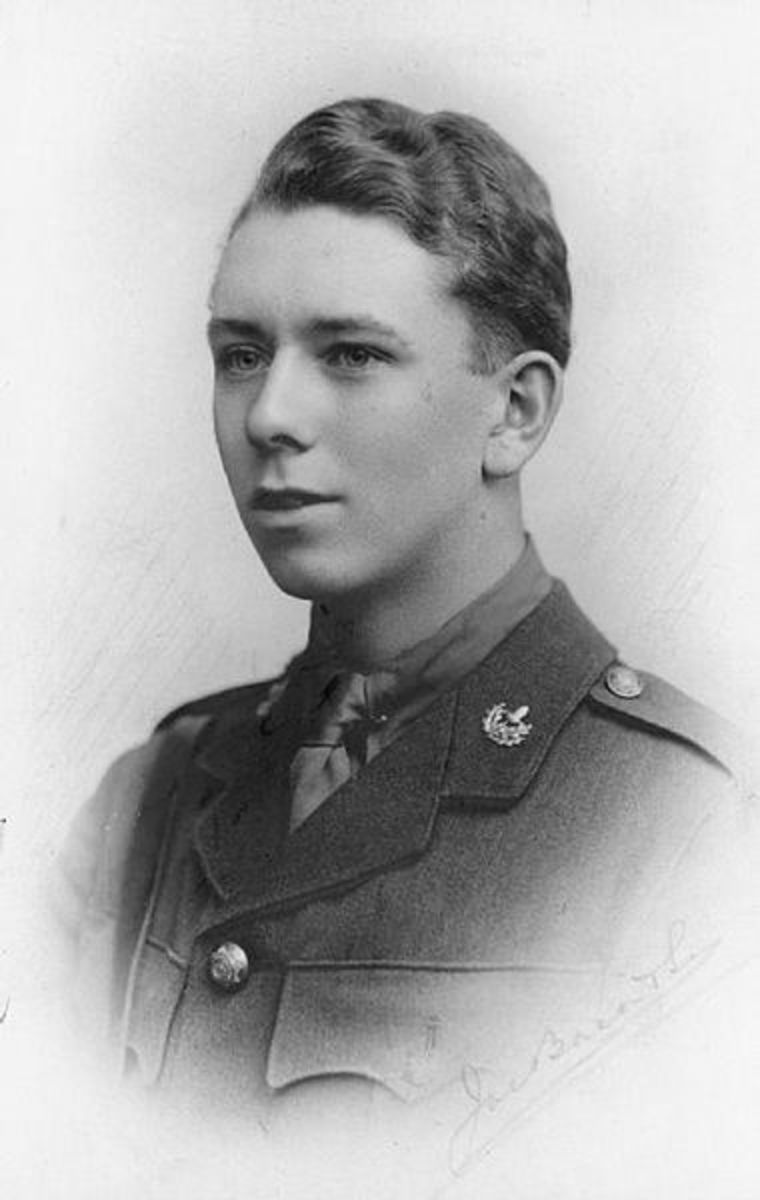 Lieutenant Kenneth Ford of Marlborough College, killed by a German sniper in November 1915, aged 20.