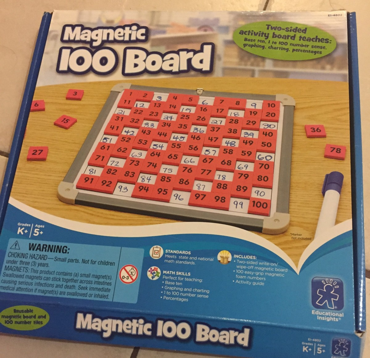 The Educational Insights Magnetic 100 Board