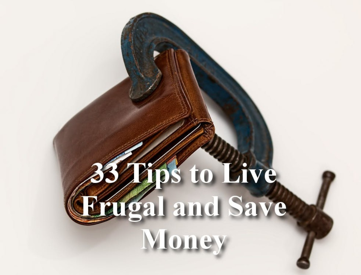 33 Tips for Living Frugal and Saving Money