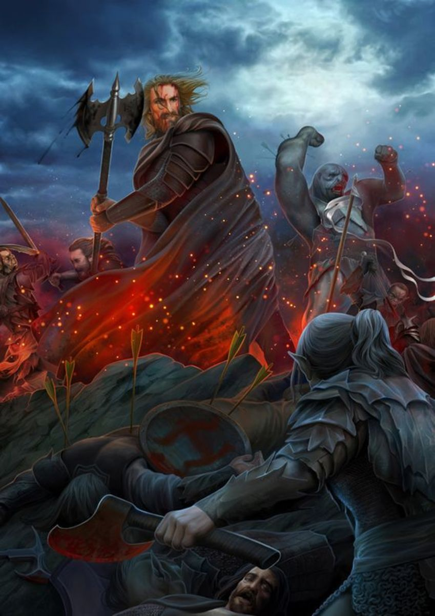 Hurin before his capture at the Battle of Unnumbered Tears