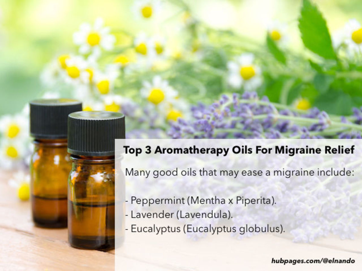 Top three essential oils that can help relieve a migraine pain include peppermint, lavender, and eucalyptus.
