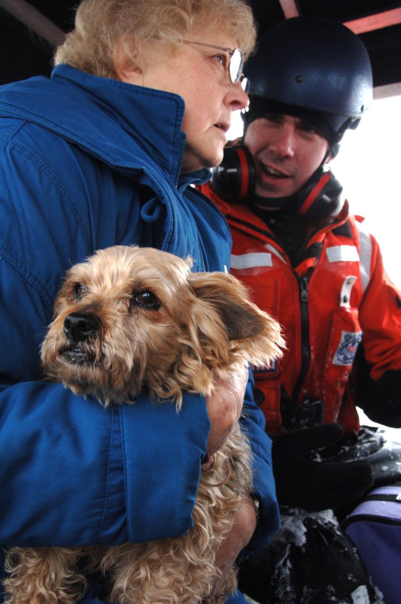 Resident and dog evacuated from North Dakota floods