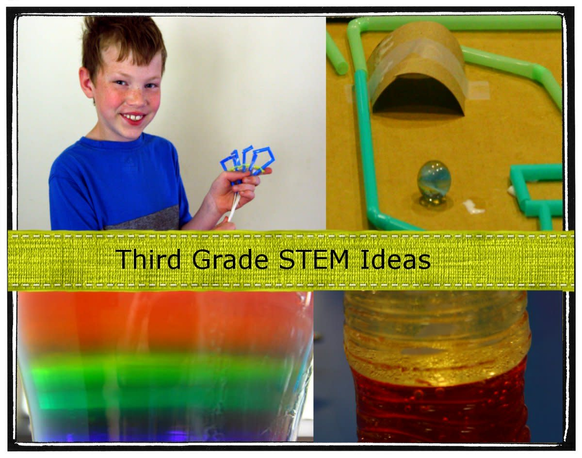 Easy science ideas for third graders using materials found around the house!