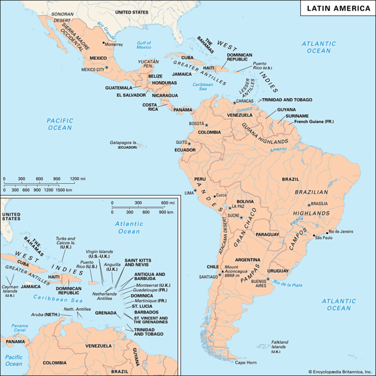Latin American Neutrality During World War One Owlcation - Physical map of latin america