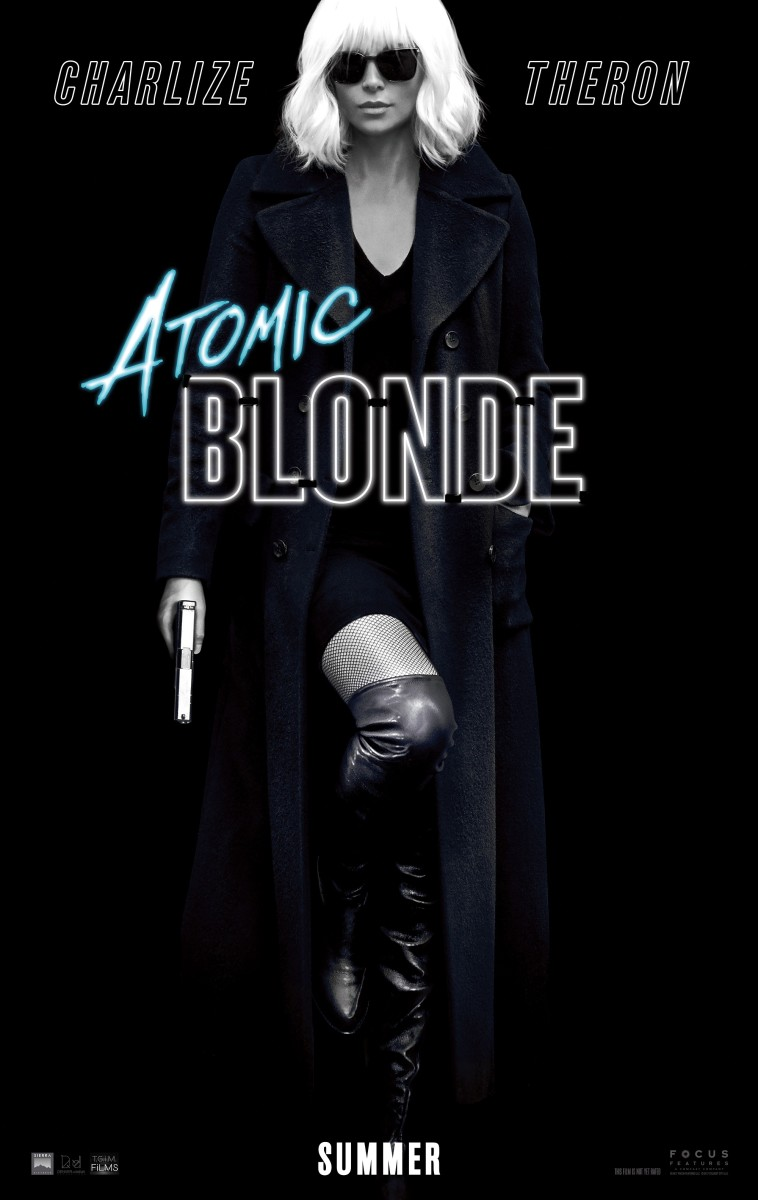 "One of several theatrical one-sheets for ""Atomic Blonde."""