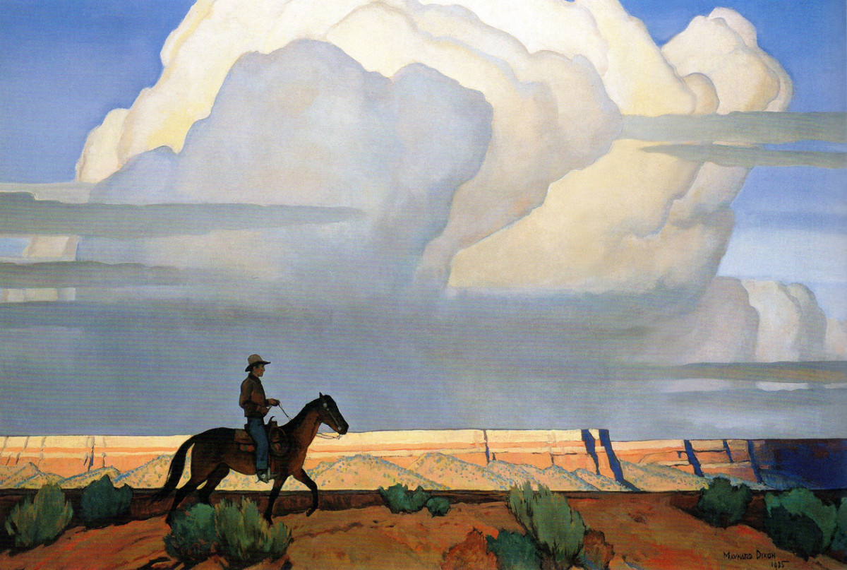 Maynard Dixon was a western painter, who could transcend the genre of Western painting