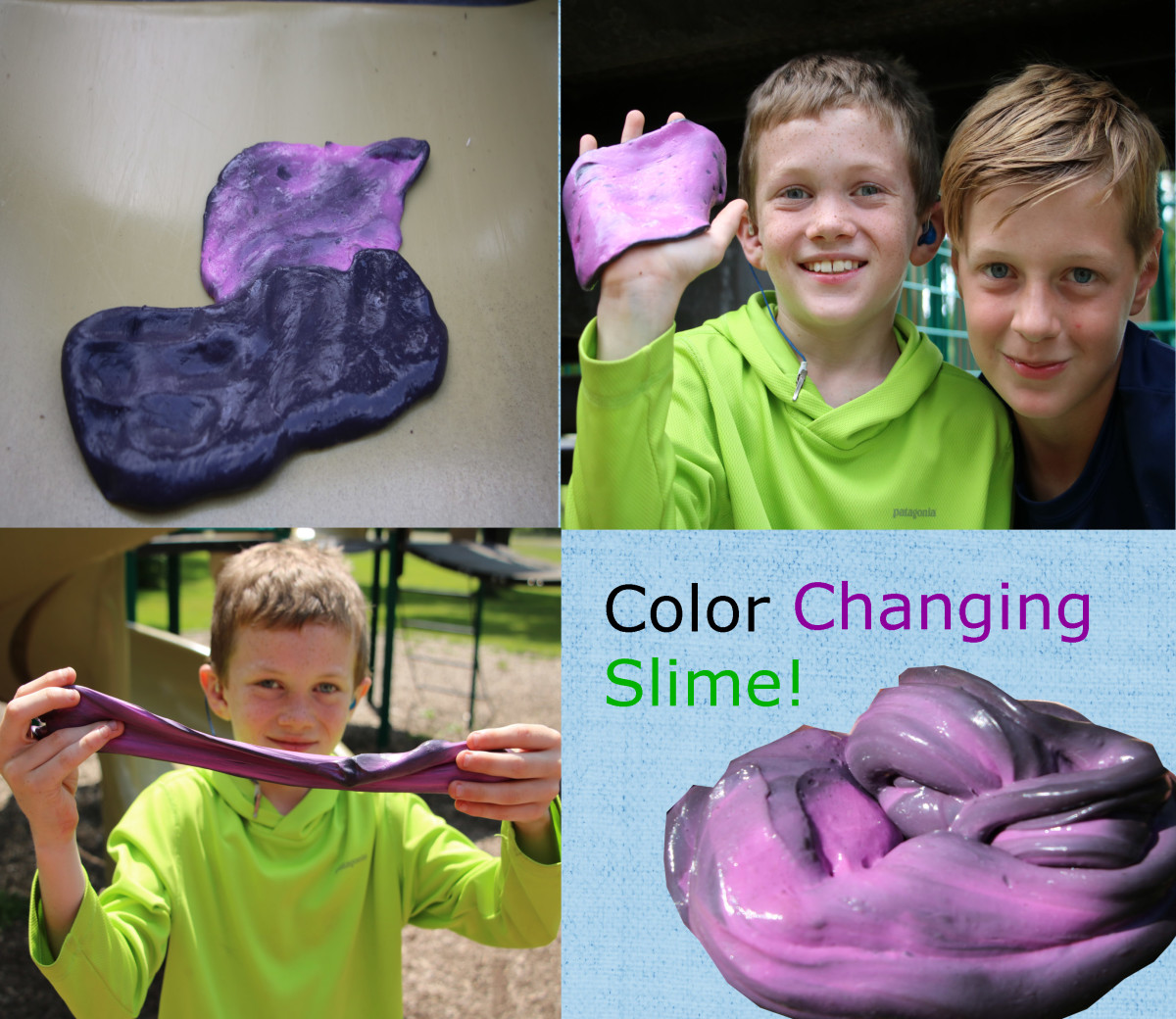 This slime used a black/pink color changing pigment and would shift color at 88F (31C).
