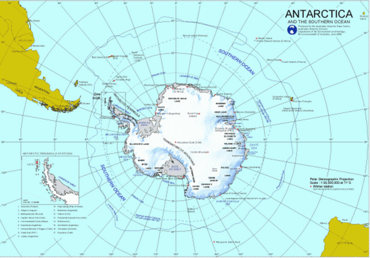 The Larsen Ice Sheet is that long arm of Antarctica that extends towards South America