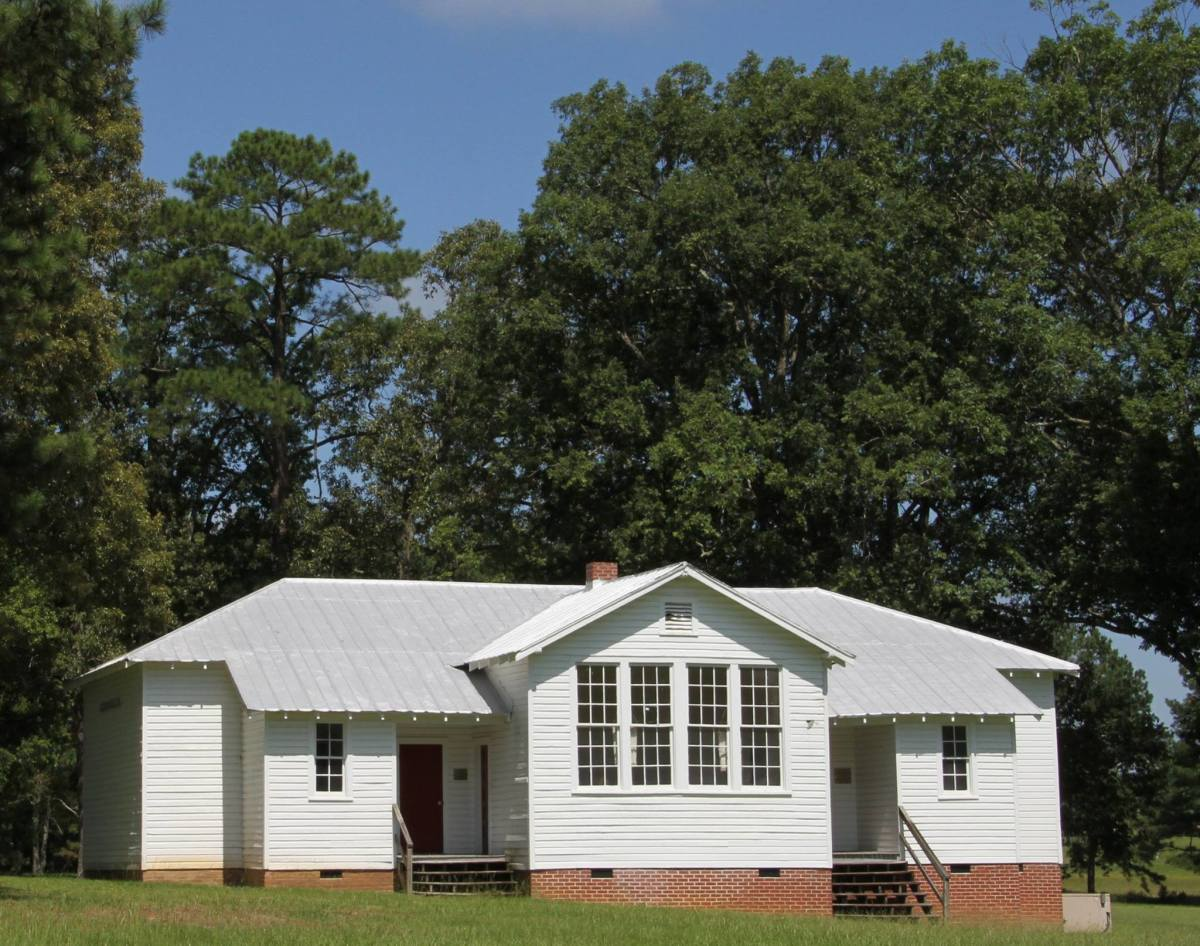Today's students may not be aware of the history of segregated schools in the US. Shown: a Rosenwald school, built in the 1920s to educate Black American students.