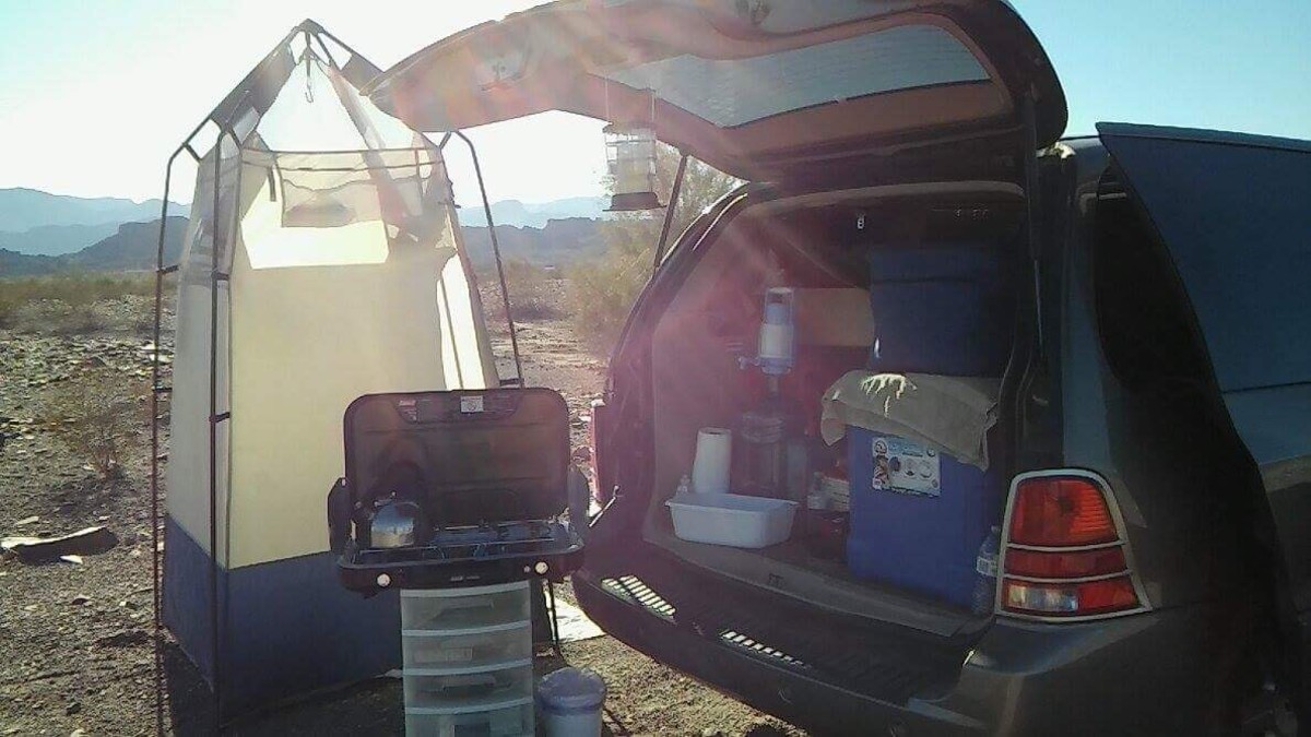 This is one option showing how to turn a minivan into a camper. This one just happens to be mine.